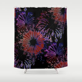labor day pattern Shower Curtain