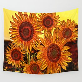 sunflowers family Wall Tapestry