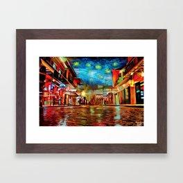 French Quarter Under the Stars Framed Art Print