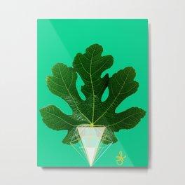 Fig Leaf Diamond Christmas Tree Metal Print