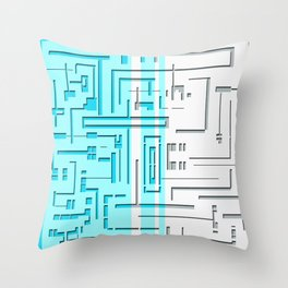 pipe crossings Throw Pillow