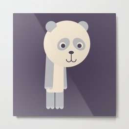 Letter P // Animal Alphabet // Panda Monogram Metal Print