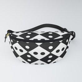 optical pattern 40 rhombus and polka dot Fanny Pack