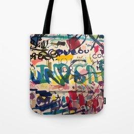 Urban Graffiti Paper Street Art Tote Bag
