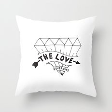 The Love Never Die Throw Pillow