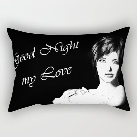Good Night Love Rectangular Pillow