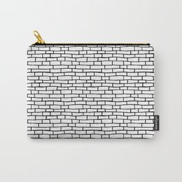 Brick road - White and Black Carry-All Pouch