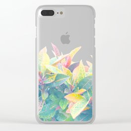 After the rain / Tropical Croton Leaves 4 Clear iPhone Case
