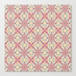 modern arabic pattern in pastel colors Canvas Print