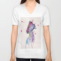 groot V-neck T-shirts featuring Groot by Kolbi Jane