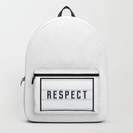 RESPECT - Light Box Backpack