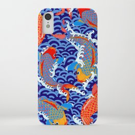 Koi fish / japanese tattoo style pattern iPhone Case