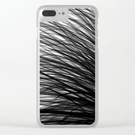 Graphite Waves Clear iPhone Case