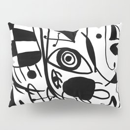 In style of Miro Pillow Sham