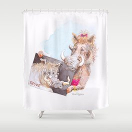before Shower Curtain