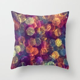 kaleidoscope rainbow Throw Pillow