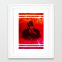 jay fleck Framed Art Prints featuring Jay by Fimbis