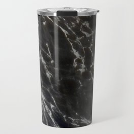 MIDNIGHT BLACK MARBLE Travel Mug