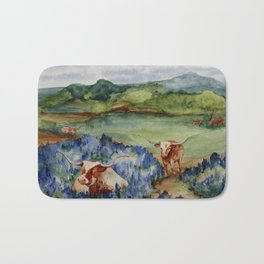 Just the Longhorns, Hanging Out Bath Mat