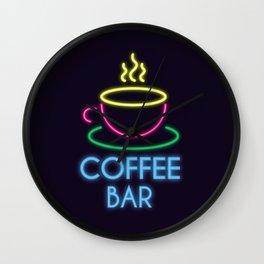 Coffee Bar Neon Wall Clock