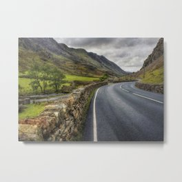Llanberis Pass Winding Road Metal Print