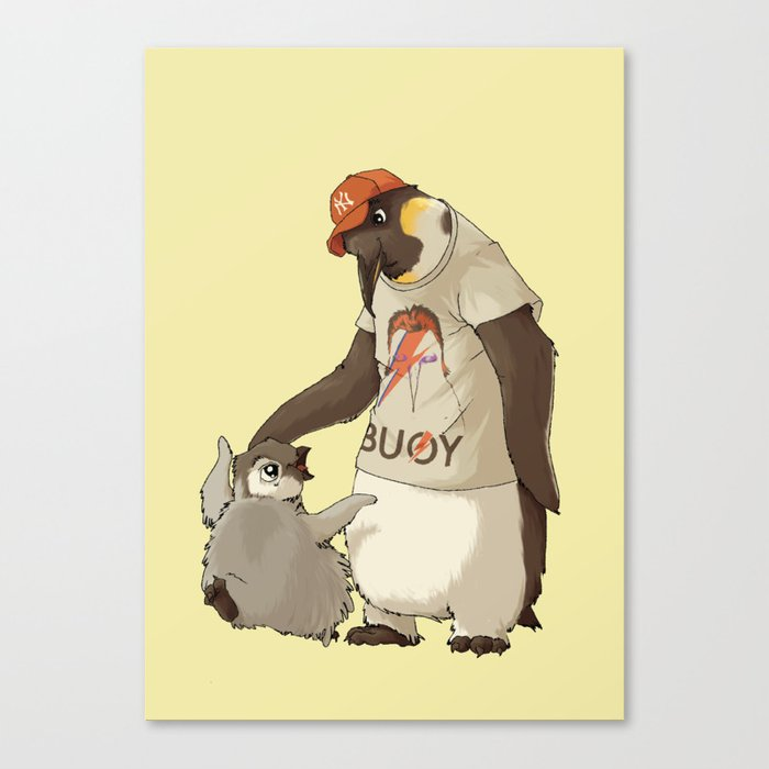 E is for Emperor Penguin Canvas Print