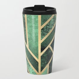 Art Deco Emerald Metal Travel Mug