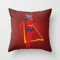 gladiator Throw Pillows featuring Confidence!  Kallark, The Gladiator by Timmy D. Matias