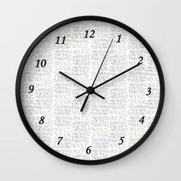 Lettres Arc en Ciel Wall Clock