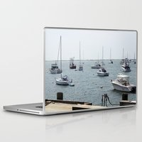 boats Laptop & iPad Skins featuring Boats by Kim Hawley