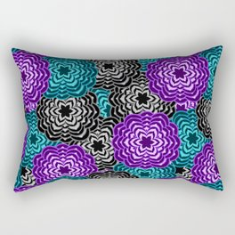 Dahlia Multicolored Floral Abstract Pattern Rectangular Pillow