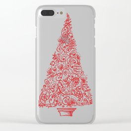 Christmas tree in New Zealand Clear iPhone Case
