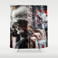 punk rock Shower Curtains featuring Punk Rock by Studio46