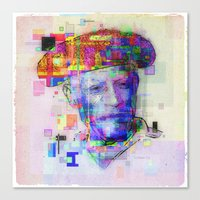 pablo picasso Canvas Prints featuring Pablo Picasso by Steve W Schwartz Art