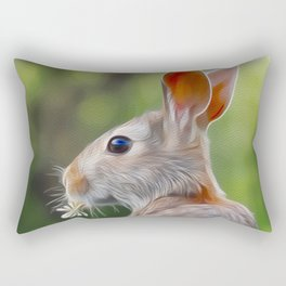 Mr Rabbit Rectangular Pillow