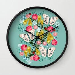 Buckeye Butterly Florals by Andrea Lauren  Wall Clock