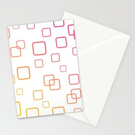 Pink and Yellow Digital Art Modern Ombre Stationery Cards