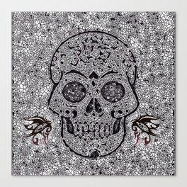 Mosaic Skull Canvas Print