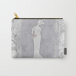 Vintage Woman in Roses Carry-All Pouch