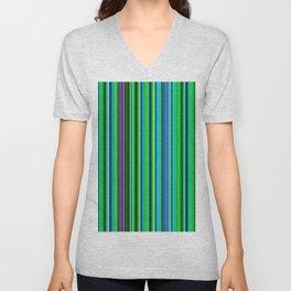 Colorful Barcode Unisex V-Neck