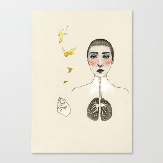 kara akciğer Canvas Print