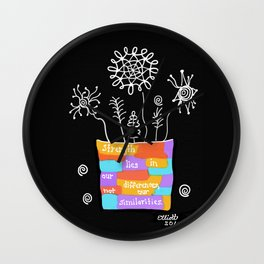 Strength Lies in Our Differences Wall Clock