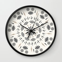 Snowflakes Scandic Nordic Wall Clock