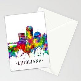 Ljubljana Skyline Stationery Cards