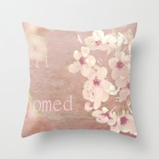 My heart has bloomed Throw Pillow