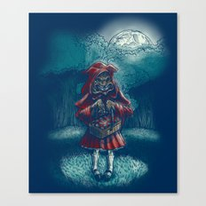 Big Bad Little Red Riding Wolf Hood Canvas Print