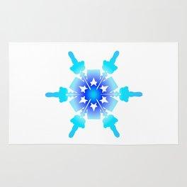 Blue Snowflake Design II Rug