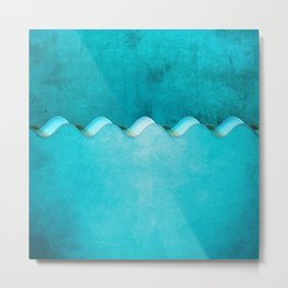 Along the Shores of Clear Bays Metal Print