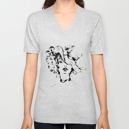 The lady with the hat Unisex V-Neck