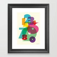 123 in colors Framed Art Print